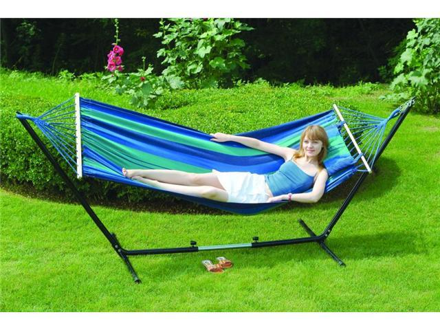 """Stansport 31190 Cayman Hammock/Stand Combo-79"""" X 48"""""""
