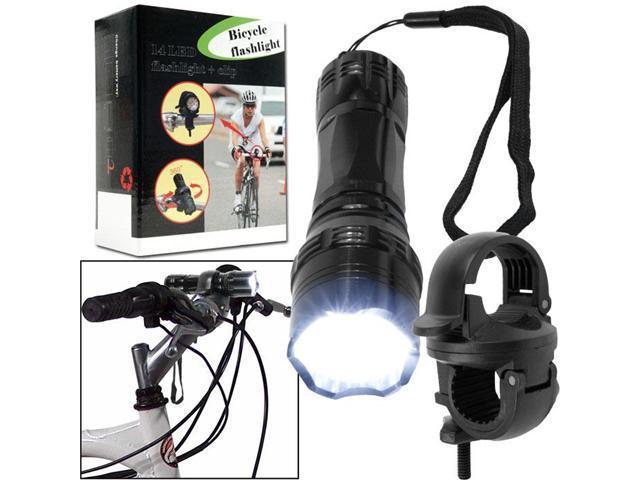 Super Bright 14 LED Flashlight w/ Bicycle Clip
