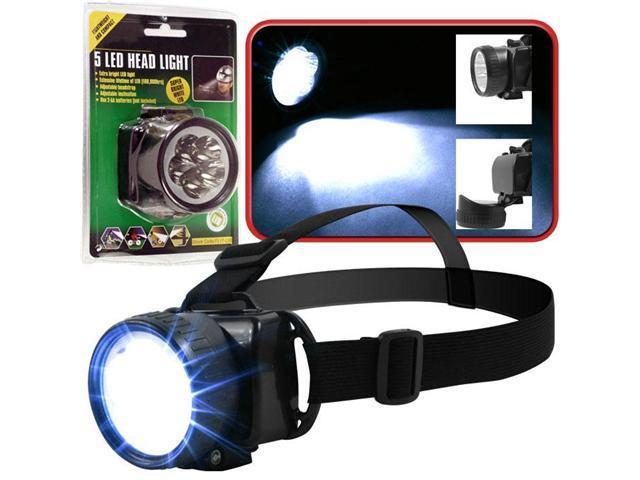 Super BrightT 5 LED Headlamp w / Adjustable Strap
