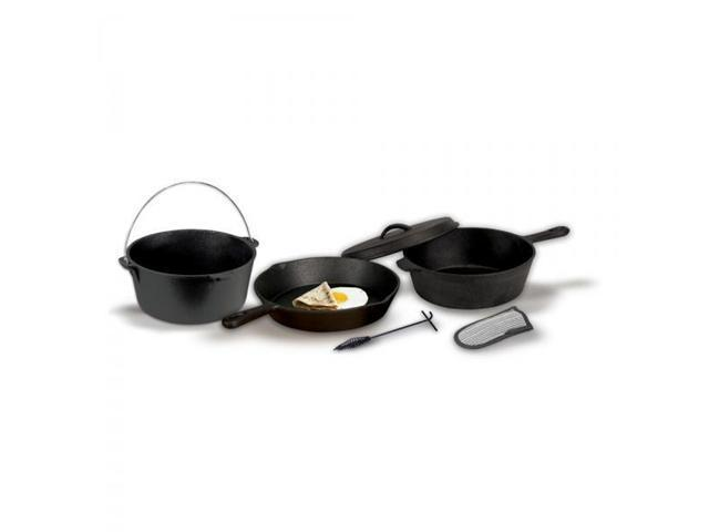 Stansport Cast Iron Cook Set - Pre Seasoned