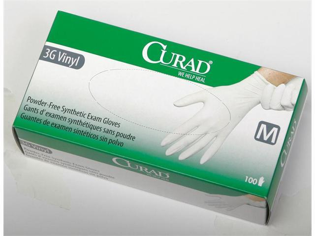 Curad 3g Pf Stretch Synthetic Vinyl Exam Glove