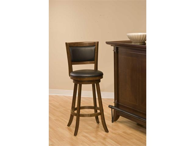 Hillsdale Furniture Dennery Swivel Barstool w/Brown Vinyl