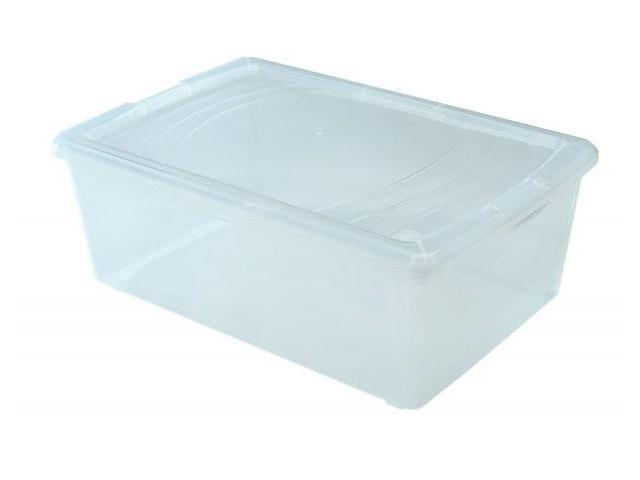 Iris 101481 - Snap-tight Clear Modular Container – 3.05 Gal, Plastic, Clear, 1 each