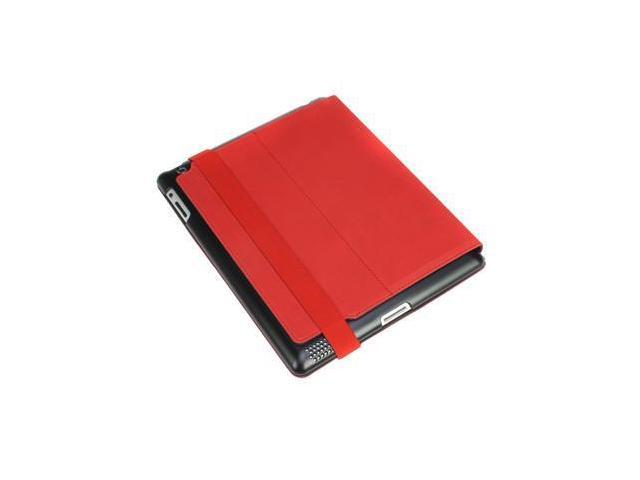 Hornettek Voyager Hard Shell Metallic Hairline Design Folio Case for Apple The New iPad 3 - Ferrari Red HT-IPD3-VO-02