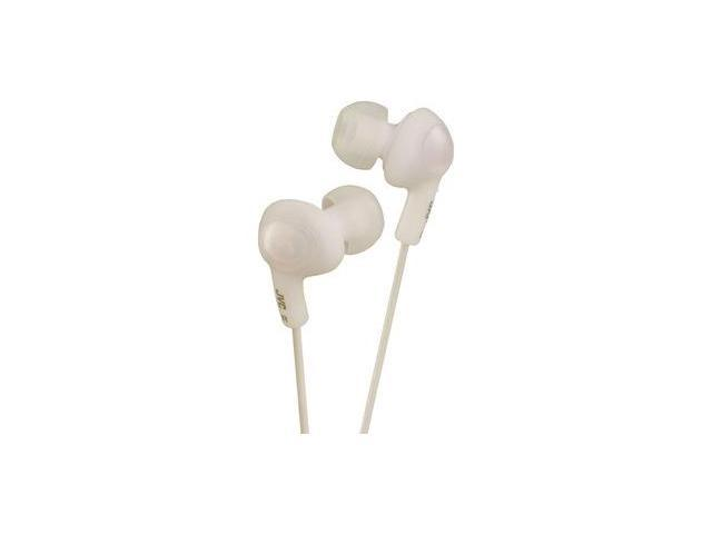 JVC HAFX5W GUMY Plus In-Ear Earbuds Headset - White