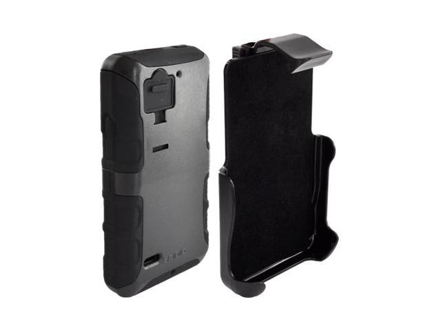 Black OEM Seidio Convert Combo Hard Snap On Cover On Silicone W Holster & Screen Protector For Motorola Droid Bionic Xt875