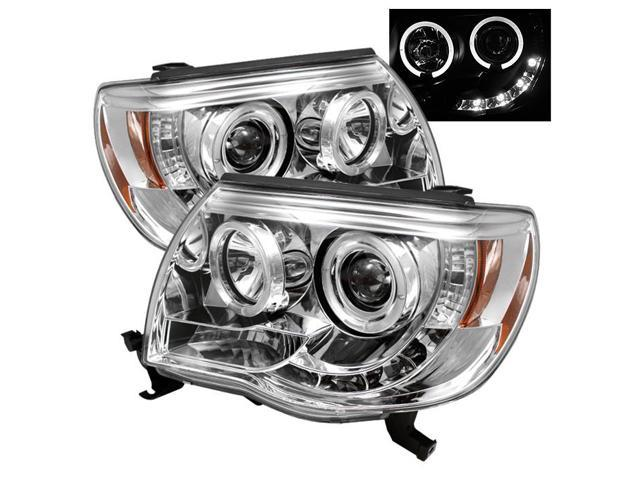 Spyder Auto Toyota Tacoma 05-10 Halo LED ( Replaceable LEDs ) Projector Headlights - Chrome PRO-YD-TT05-HL-C