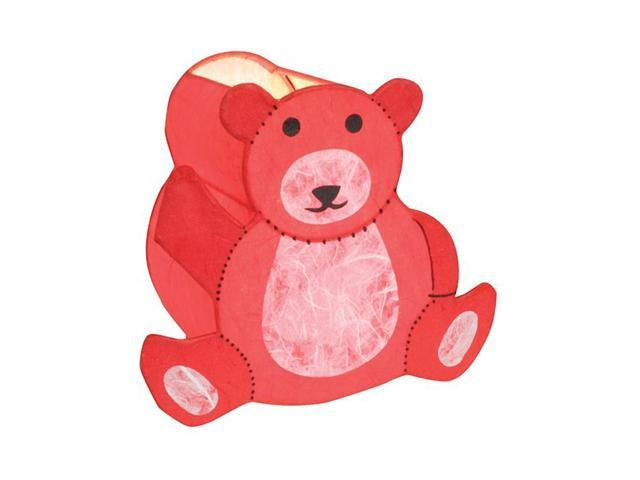 LumiSource Barry the Bear Night-Time Pals Lamp Red