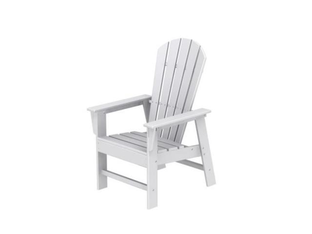 Recycled Earth-Friendly Venice Beach Outdoor Adirondack Dining Chair - White