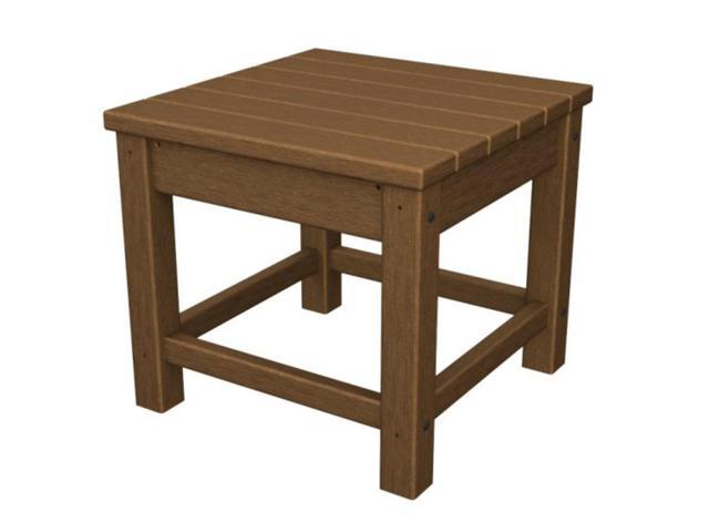 Recycled Earth-Friendly Outdoor Patio Club Side Table - Raw Sienna