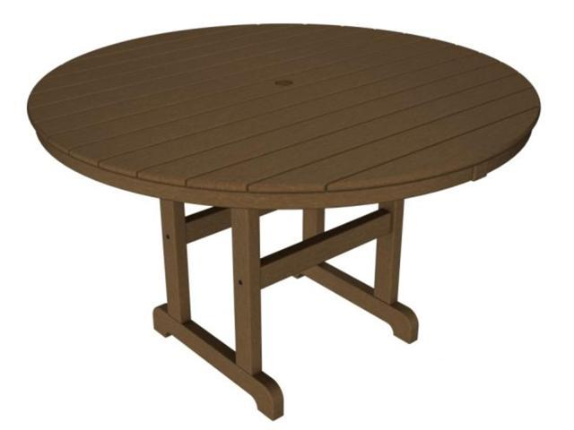 Recycled Earth-Friendly Outdoor Patio Round Dining Table - Raw Sienna