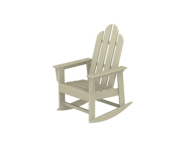Recycled Earth-Friendly Sea Breeze Outdoor Adirondack Rocking Chair - Khaki