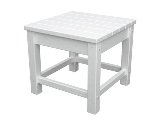 Recycled Earth-Friendly Outdoor Patio Club Side Table - White