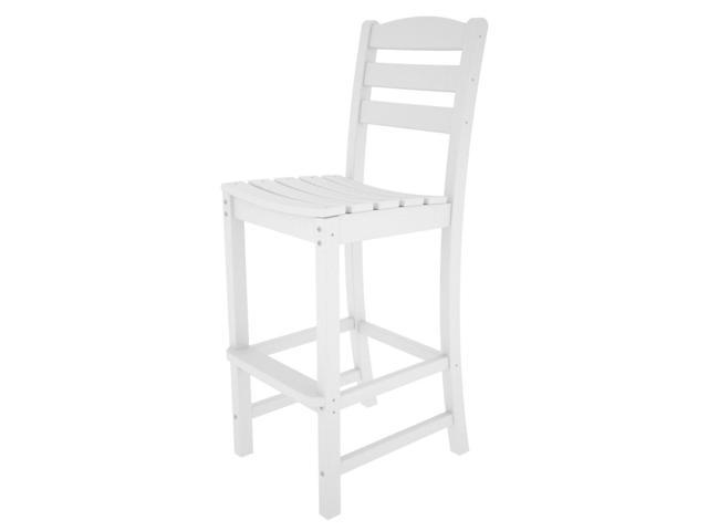 Recycled Earth-Friendly Cafe Outdoor Patio Bar Dining Chairs - White