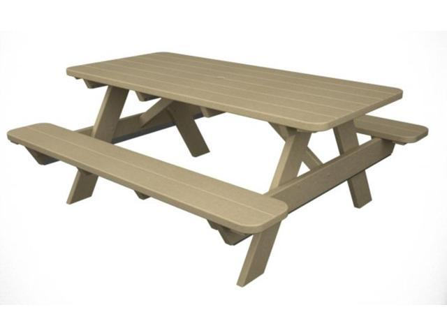 Recycled Earth-Friendly Park Lane Outdoor Patio Picnic Table - Khaki
