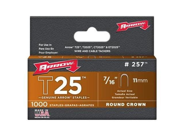 Arrow Fastener 257 T25 7/16 Inch (11mm) Staples, 1000/Pk