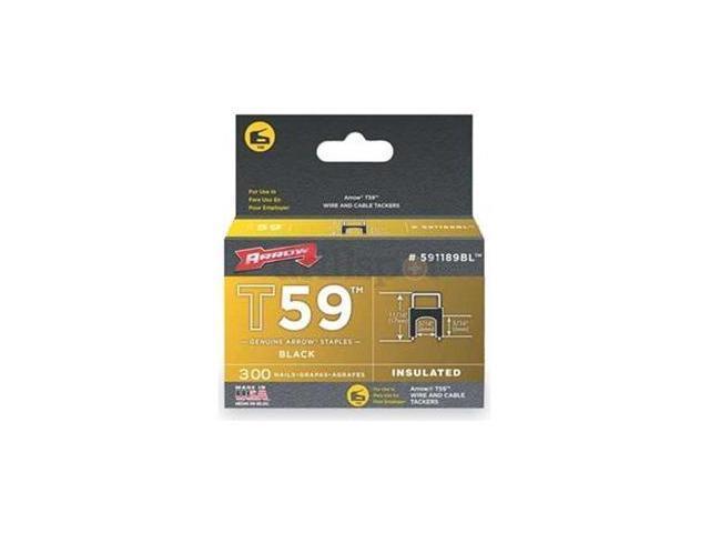 Arrow Fastener 591189BL T59  5/16 Inch (8mm) X 5/16 (8mm) Staples Black
