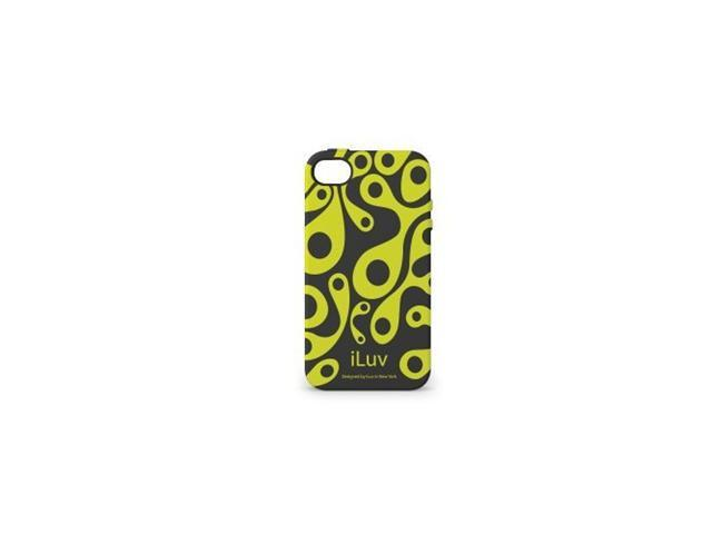 iLuv Aurora Glow-In-The-Dark Case for iPhone 4 - Black/Green