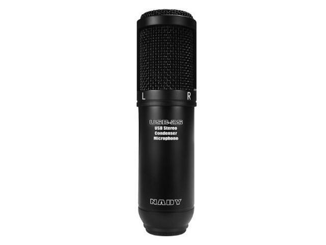 Nady System USB-2S Black Stereo USB Condenser Microphone