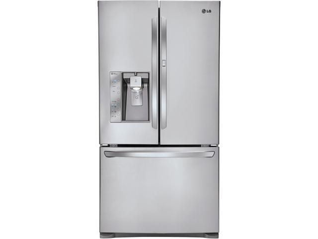 30.5 cu. ft. French Door Refrigerator with Spill Protector Glass Shelves, 4-Compartment Crisper System, Door-in-Door, 3-Tier ...