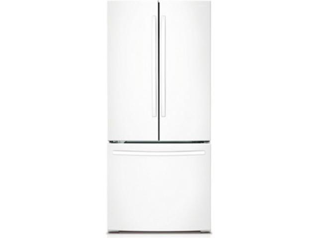 21.6 cu. ft. French Door Refrigerator with 5 Spill Proof Shelves, 2 Humidity Controlled Crispers, Ice Maker, LED Lighting, Energy Star Rated and Internal Digital Display: White