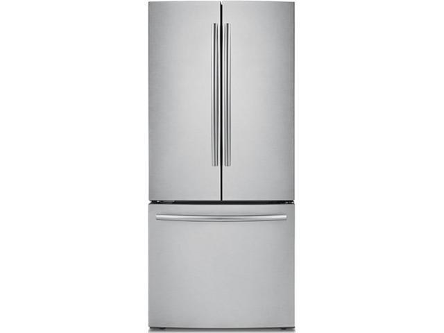 21.6 cu. ft. French Door Refrigerator with 5 Spill Proof Shelves, 2 Humidity Controlled Crispers, Ice Maker, LED Lighting, Energy Star Rated and Internal Digital Display: Stainless Steel