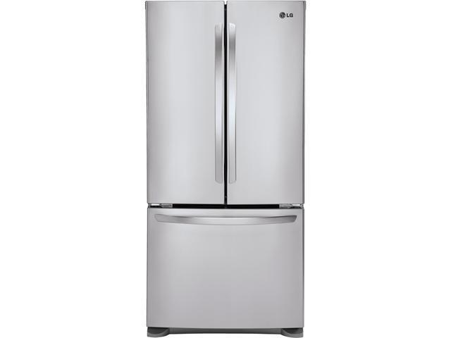 24.9 cu. ft. French Door Refrigerator with Spill Protector Glass Shelves, Humidity Crispers, Glide N' Serve Drawer and LED Interior Lights: Stainless Steel