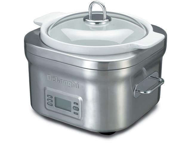 DeLonghi DCP707 Stainless Steel 5 Qt. Slow Cooker