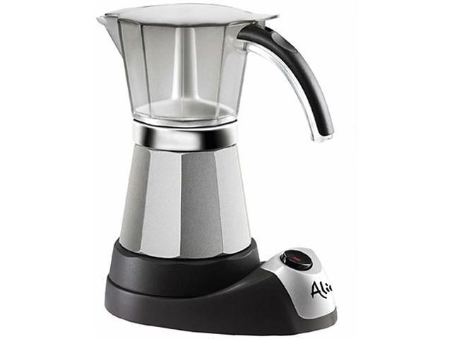 DeLonghi EMK6 Electric Moka Espresso Maker Silver/Black