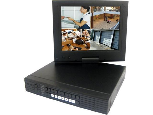 "Vonnic D7724 4 x BNC Support 1 SATA HDD (not included) 4 Ch DVR System with 10.4"" LCD Screen"