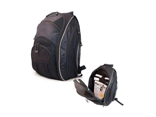 "Mobile Edge Black with Silver Trim EVO Laptop Backpack - 16"" PC/17"" Macbook Model MEEVO1"
