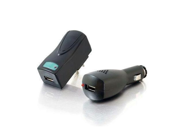 C2G 22330 Black AC and DC to USB Travel Charger