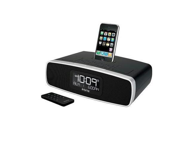 iHome Dual Alarm Clock Radio for iPhone / iPod with AM/FM Presets                                         iP90BZ