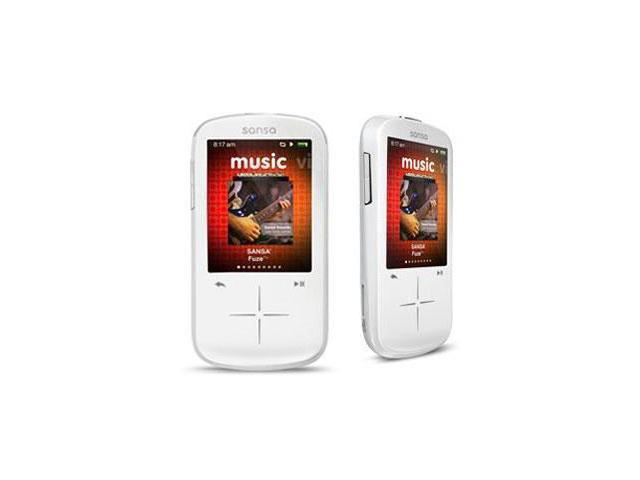 "SanDisk Sansa Fuze+ 2.4"" White 8GB MP3 / MP4 Player SDMX20R-008GW-A57"