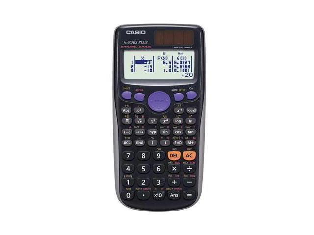Casio fx-300ESPlus Scientific Calculator - 252 Functions - Black - 1 Each