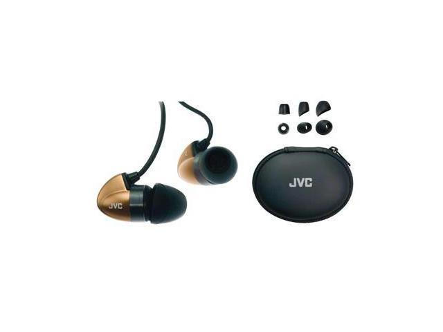 "JVC Black/Gold HA-FX300T Canal Bronze ""Bi-METAL"" Structure Headphone"