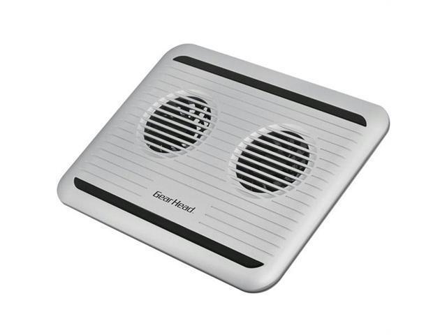 Gear Head CF3100SLV Gear head 17 silver dual-cool notebook cooling pad