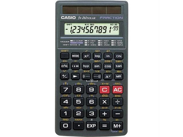 FX-260 Solar All-Purpose Scientific Calculator 10-Digit LCD