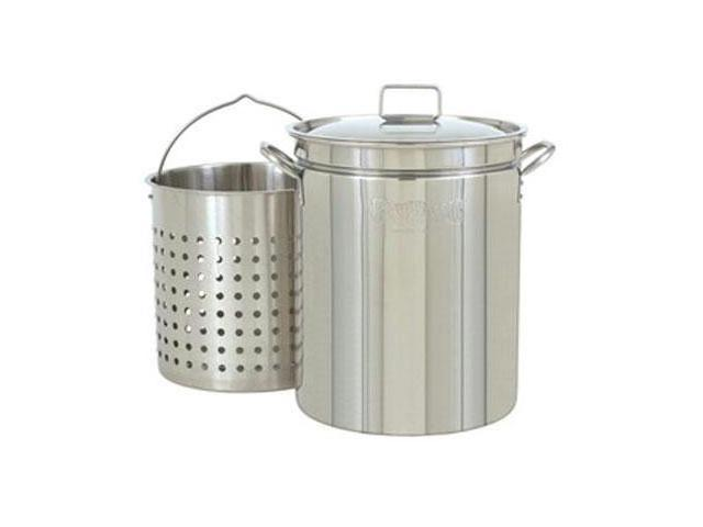 Bayou Classic 44 Qt. Stainless Boil-Steam-Fry Pot 1144
