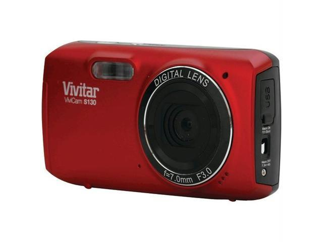 Vivitar VS130-RED-SOL Red 16.1 MP Digital Camera