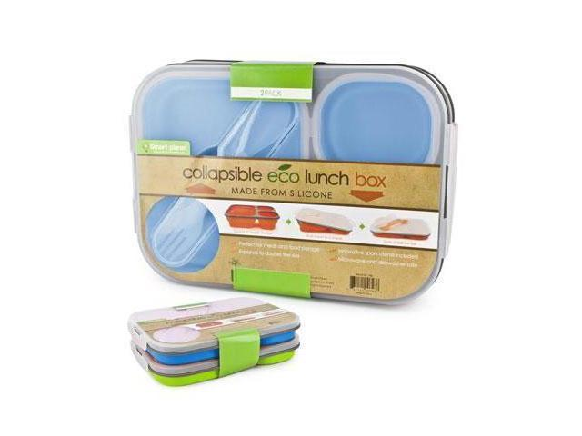 Smart Planet EC-34LSET1 Eco Silicone Collapsible Lunch Box Set