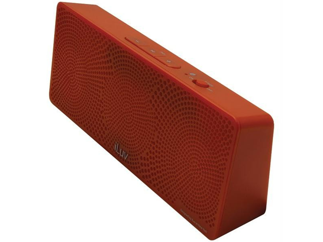 ILUV ISP202RED MOBITOUR PORTABLE BLUETOOTH(R) STEREO SPEAKER (RED)
