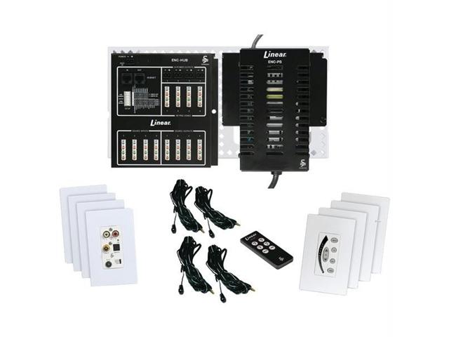 LINEAR ENC-KIT-M Linear enc-kit-m encore 4-source, 4-zone digital audio distribution system kit