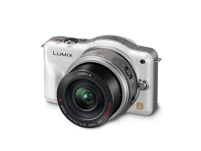 Panasonic LUMIX DMC-GF3XW White 12.1 MP 3.0