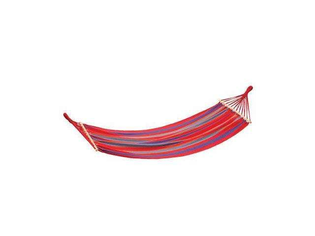 Stansport 30800-60 Single Cotton Hammock Red