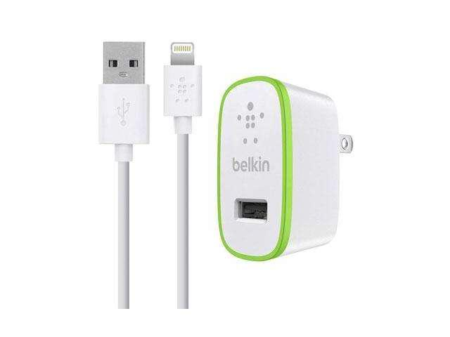 BELKIN F8J052tt04-WHT White Home Charger w/ Lightning sync/charge cable 4ft