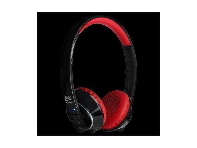 Mee audio Air Fi Runaway Bluetooth Stereo Wireless Headphones with Microphone (Red)