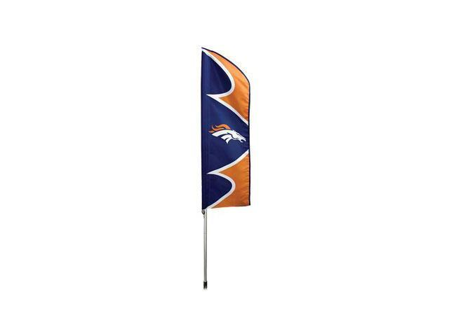 "Party Animal Broncos Swooper Flag Kit - United States - 42"" x 13"" - Durable, Weather Resistant, UV Resistant, Lightweight, ..."