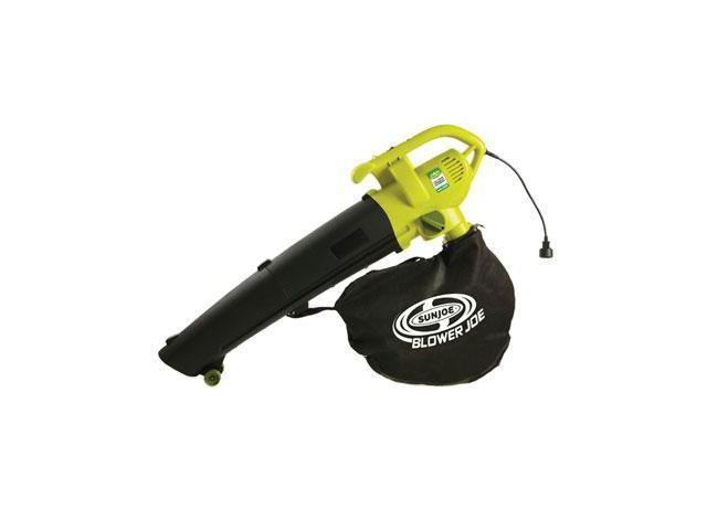 Sun Joe Blower Joe 3-IN-1 Electric Blower, Vacuum & Leaf Shredder SBJ604E - 200 mph Air Speed - AC Supply