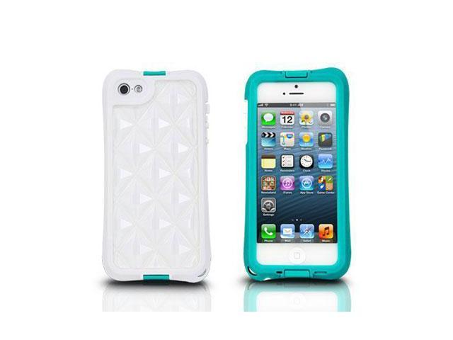 The Joy Factory aXtion Go Turquoise Rugged Water-Resistant Case with Air Cushion Design for iPhone 5/5s CWD106